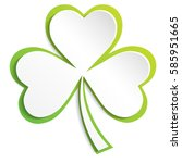 irish shamrock leaves... | Shutterstock .eps vector #585951665