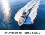 Luxury Yacht  Aerial View...