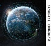 data exchange and global... | Shutterstock . vector #585955769