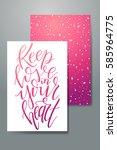 love postcard graphic design.... | Shutterstock .eps vector #585964775