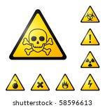 warning signs  symbols. danger  ... | Shutterstock .eps vector #58596613