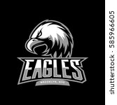 furious eagle sport vector logo ... | Shutterstock .eps vector #585966605