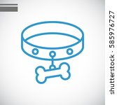 dog collar icon flat . | Shutterstock .eps vector #585976727