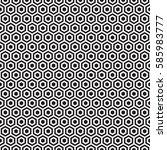 seamless hexagonal honeycomb...   Shutterstock .eps vector #585983777