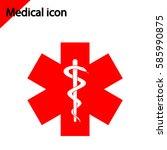medical icon on white...   Shutterstock .eps vector #585990875
