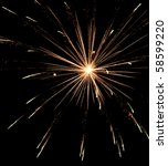 bright burst of fireworks with... | Shutterstock . vector #58599220