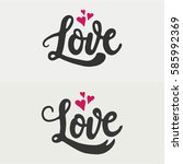 two versions of hand drawn word ...   Shutterstock .eps vector #585992369