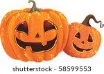 halloween pumpkins | Shutterstock .eps vector #58599553