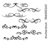 decorative monograms and... | Shutterstock .eps vector #586000265