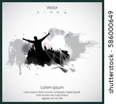 silhouette of dancing people | Shutterstock .eps vector #586000649