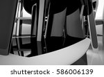 abstract dynamic interior with... | Shutterstock . vector #586006139
