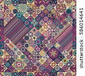 colorful vintage seamless... | Shutterstock .eps vector #586014641