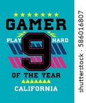 california gamer of the year t... | Shutterstock .eps vector #586016807