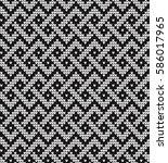 vector knitted geometrical... | Shutterstock .eps vector #586017965