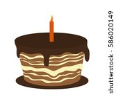 sweet cake icon | Shutterstock .eps vector #586020149
