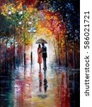 original oil painting on canvas ... | Shutterstock . vector #586021721
