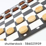 checkers game | Shutterstock . vector #586025939