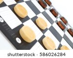 checkers game | Shutterstock . vector #586026284