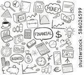 finances doodle icon | Shutterstock .eps vector #586026599