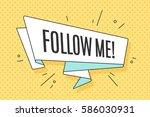 ribbon banner with text follow... | Shutterstock . vector #586030931