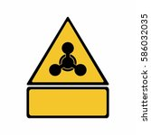 the chemical weapon sign vector ... | Shutterstock .eps vector #586032035