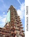 a church spire under restoration | Shutterstock . vector #586033