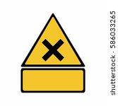 irritant substance sign vector... | Shutterstock .eps vector #586033265