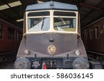 Small photo of Didcot, UK. 24th July 2016. GWR railcar AEC 22 is in the engine shed at Didcot Railway centre. These units were first used in 1933 and survived in regular use until the mid 1960's.