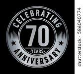 70 years anniversary logo... | Shutterstock .eps vector #586040774