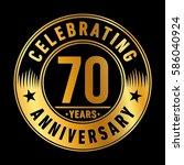 70 years anniversary logo... | Shutterstock .eps vector #586040924