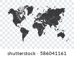 illustrated world map with the... | Shutterstock .eps vector #586041161