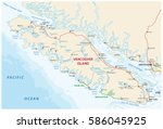 vector map of canada island... | Shutterstock .eps vector #586045925