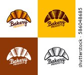 bakery logo  emblem and label.... | Shutterstock .eps vector #586048685