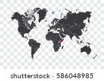 illustrated world map with the... | Shutterstock .eps vector #586048985