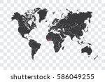 illustrated world map with the... | Shutterstock .eps vector #586049255