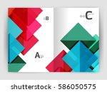 vector modern geometric annual... | Shutterstock .eps vector #586050575
