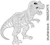 stylized tyrannosaurus  t rex ...   Shutterstock .eps vector #586052975