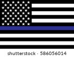police support flag... | Shutterstock .eps vector #586056014