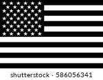 black and white flag of united... | Shutterstock .eps vector #586056341