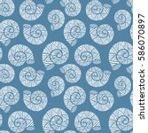 Seamless Pattern With Spiral...
