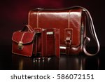 men's leather bags | Shutterstock . vector #586072151