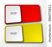 vector abstract banner. the two ... | Shutterstock .eps vector #586072811