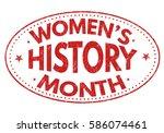 women's history month grunge... | Shutterstock .eps vector #586074461