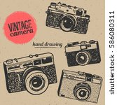 vintage retro manual photo... | Shutterstock .eps vector #586080311