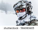 winter arctic mountains warfare....   Shutterstock . vector #586083605