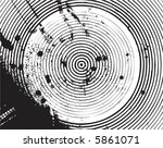 circles and ink grunge | Shutterstock .eps vector #5861071