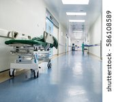 doctors and nurses walking in... | Shutterstock . vector #586108589