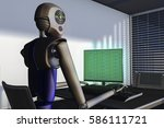 we are the robots  robots in a... | Shutterstock . vector #586111721