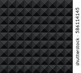seamless black abstract... | Shutterstock .eps vector #586114145