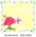 frame with mushroom and...   Shutterstock .eps vector #58611862